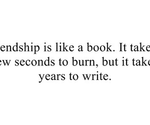 quote, friends, and book image