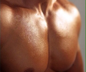 boy, suntanned, and chest image