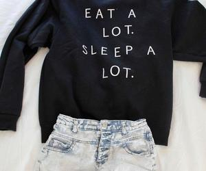 fashion, sleep, and outfit image