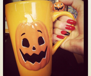 cup, nails, and pretty image