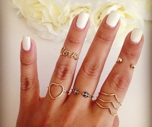 hand, nails, and rings image