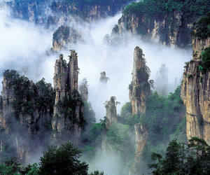china, nature, and tianzi mountain image