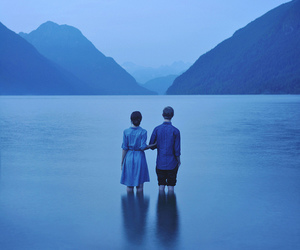 blue, couple, and water image