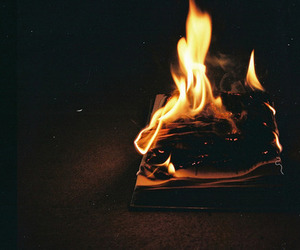 fire, dark, and indie image