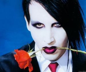 Marilyn Manson and rose image