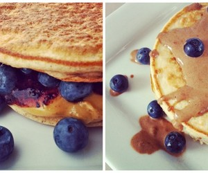 blueberry, pancake, and foodporn image