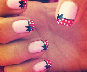nail, red, and love image