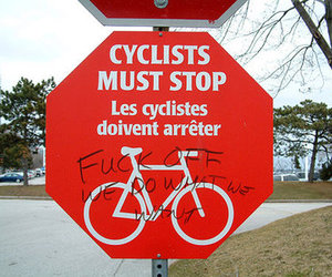 must, stop, and cyclists image