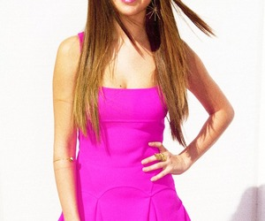 selena gomez, pink, and dress image