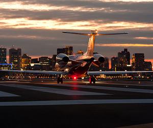 aeroplane, lights, and new york image