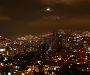 venezuela, caracas at night, and beautiful city image