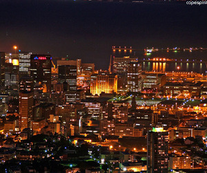 cape town, city, and night image