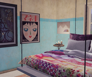 bedroom, the sims 3, and home image
