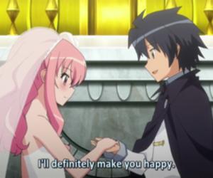 anime, zero no tsukaima, and kiss image