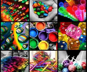 Collage, colorful, and rainbows image