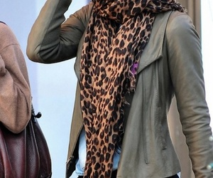 style, outfit, and scarf image