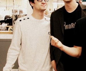 panic! at the disco, brendon urie, and dallon weekes image
