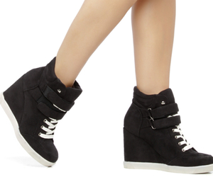black, shoes, and sneaker wedges image