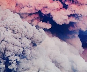 clouds, pink, and smoke image