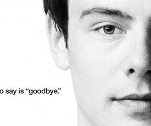 glee, cory monteith, and goodbye image