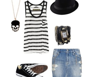 clothes, converse, and fedora image