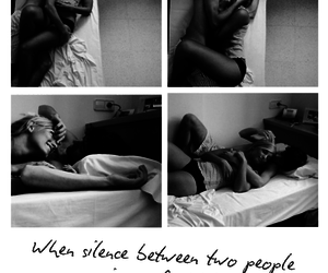 love, couple, and silence image