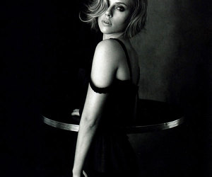 Scarlett Johansson, sexy, and black and white image