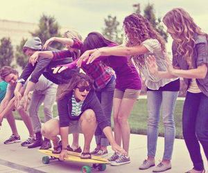 dope, skater girl, and friends image