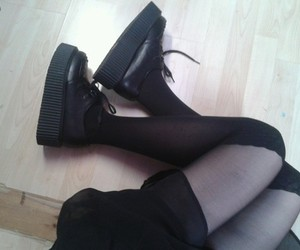 black, tights, and pale blog image