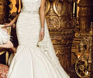 shining, lace wedding dresses, and white wedding gowns image