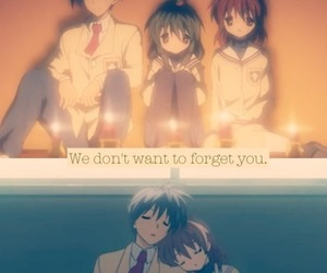 clannad, tomoya, and nagisa image