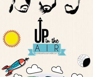 jared leto, up in the air, and poster image