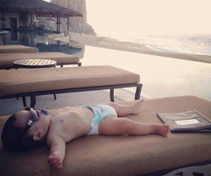 baby, rest, and sea image