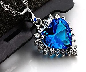 accessories, blue, and crystal image