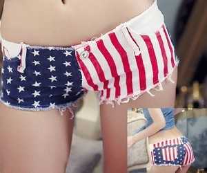 flag, sexy, and stars image