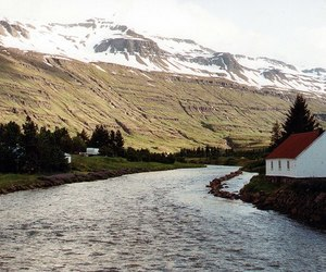 house, nature, and iceland image