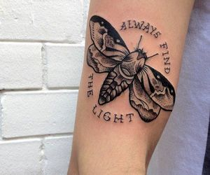tattoo, ink, and light image