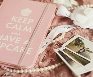 pink, cupcake, and keep calm image