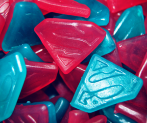 superman, candy, and blue image