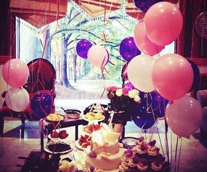balloons and cake image