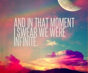 infinite, quote, and moon image