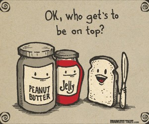 funny, jelly, and bread image