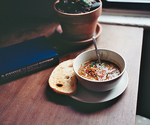 food, book, and bread image