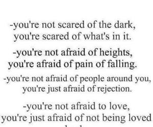 quote, afraid, and scared image