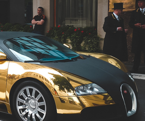 beauty, gold, and car image