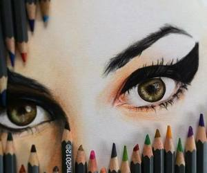 eyes, drawing, and Amy Winehouse image