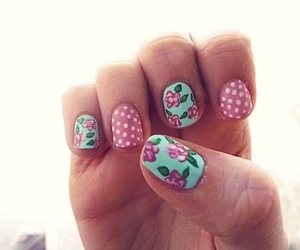 nails, vintage, and cute image