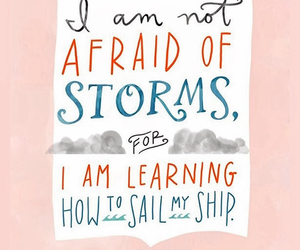 quote, storm, and afraid image