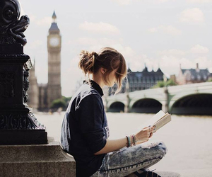 girl, london, and book image