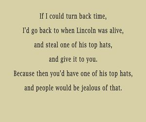 lincoln, top hat, and daily odd compliment image